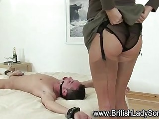 British femdom whore with dildo