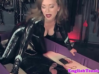 Dominant mistress queening pathetic sub