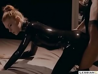 Foot Fetish Mistress Latex Strapon Fucking