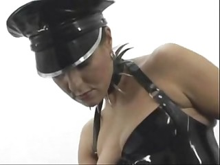 slave suck and fucked by full latex mistress