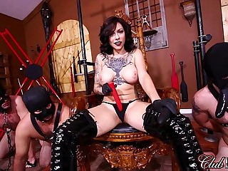 FemDom Goddess Gets Off Then Ass Fucks Her Slaves