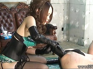 Japanese Dominatrix Anal Dildo
