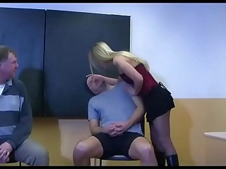 2 Amateur Highschool Girls in Boots - Femdom Domination in School