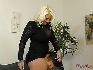 Lucky B Sits on Her Slave's Face - Femdom Ass Worship